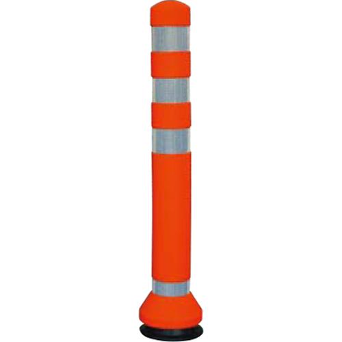 メーカー直送 サンポール リサイクルゴムボラード φ80×H675mm カラー:オレンジ [RC-65(R)]