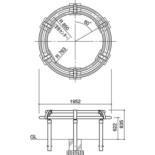 メーカー直送 サンポール ツリーサークル  [SP-800-C-17] φ1700 SUNPOLE