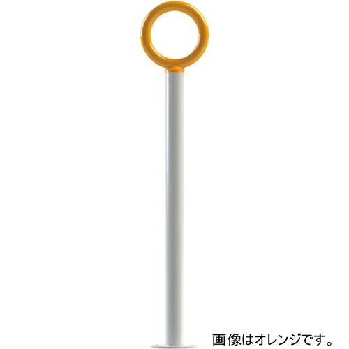 メーカー直送 サンポール サポートピラー 手持ちヘッド色:オレンジ 支柱 [SPP-48B-137] φ48.6(t3.2)×H850 持ち手 φ28×W180mm SUNPOLE