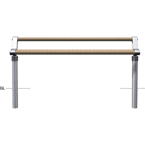 メーカー直送 サンポール サポートベンチ  [SPR-100U] φ76.3(t2.8)×W1800×H779mm SUNPOLE