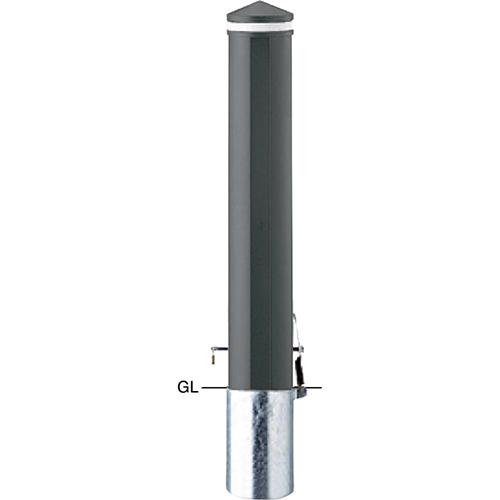 メーカー直送 サンポール ボラード φ152.5×H850mm カラー:ダークグレー [V-312SK]