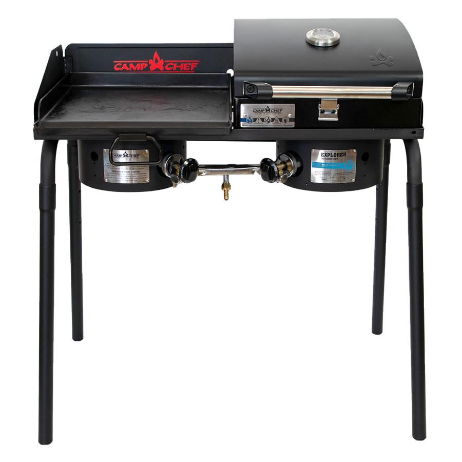 キャンプシェフ EXPLORER 2バーナーBBQグリル EX60LW(J) グリドル&グリルBOXセット [国内正規品] Camp Chef《山梨倉庫出荷》