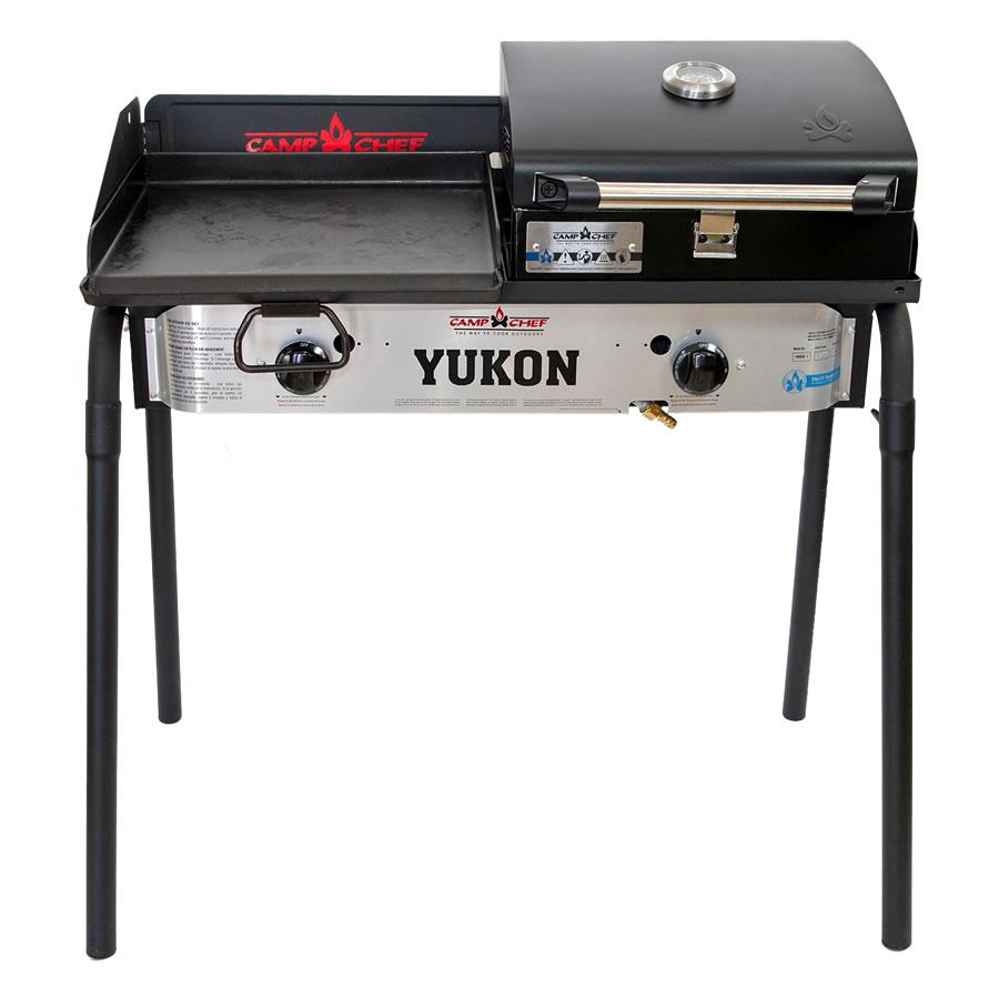 キャンプシェフ YUKON本体 グリドル グリルBOXセット YUKON 2バーナーBBQグリル 期間限定送料無料 Camp 安全 国内正規品 YK60LW Chef《配送タイプA》 J