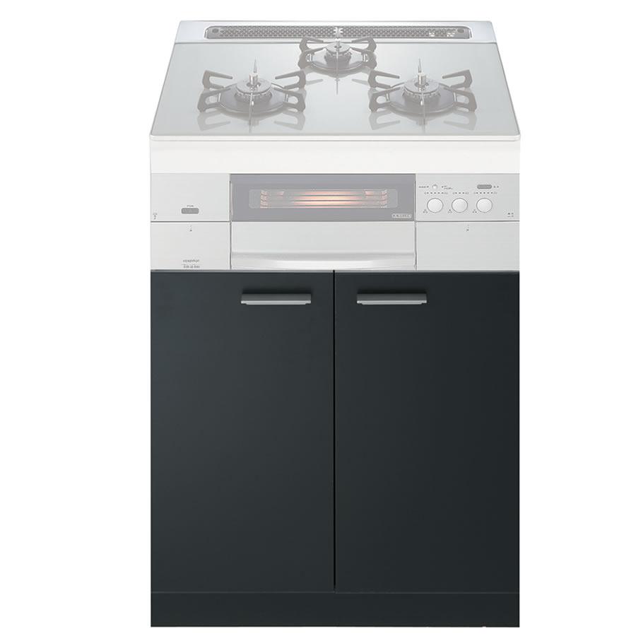 ノーリツ システムキッチン用両開扉収納庫(ブラック)NLA6020 [ハーマンLA6020]《配送タイプA》