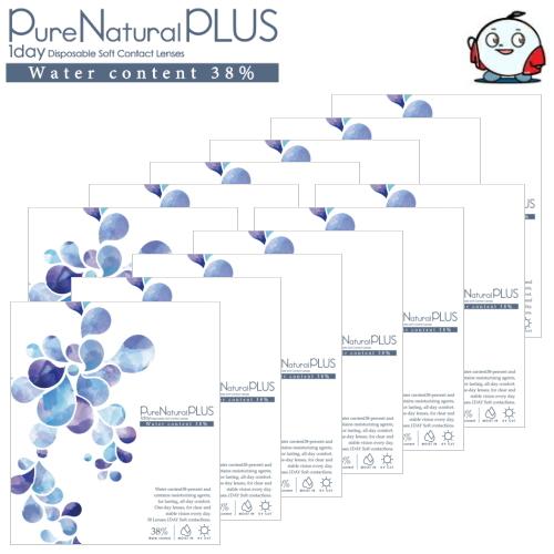 【ピュアナチュラルワンデーがリニューアル】【送料無料!12箱】ピュアナチュラル プラス 38% 低含水 Pure Natural PLUS 30枚入 12箱 1日使い捨て コンタクトレンズ