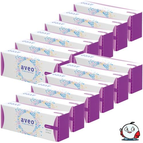【送料無料!12箱】アイミー アベオワンデー 30枚入り 12箱 コンタクトレンズ 1日使い捨て UVカット うるおい成分 Aime aveo 1day