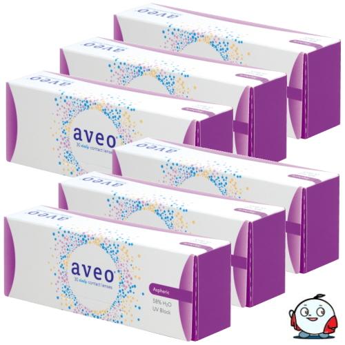 【送料無料!6箱】アイミー アベオワンデー 30枚入り 6箱 コンタクトレンズ 1日使い捨て UVカット うるおい成分 Aime aveo 1day