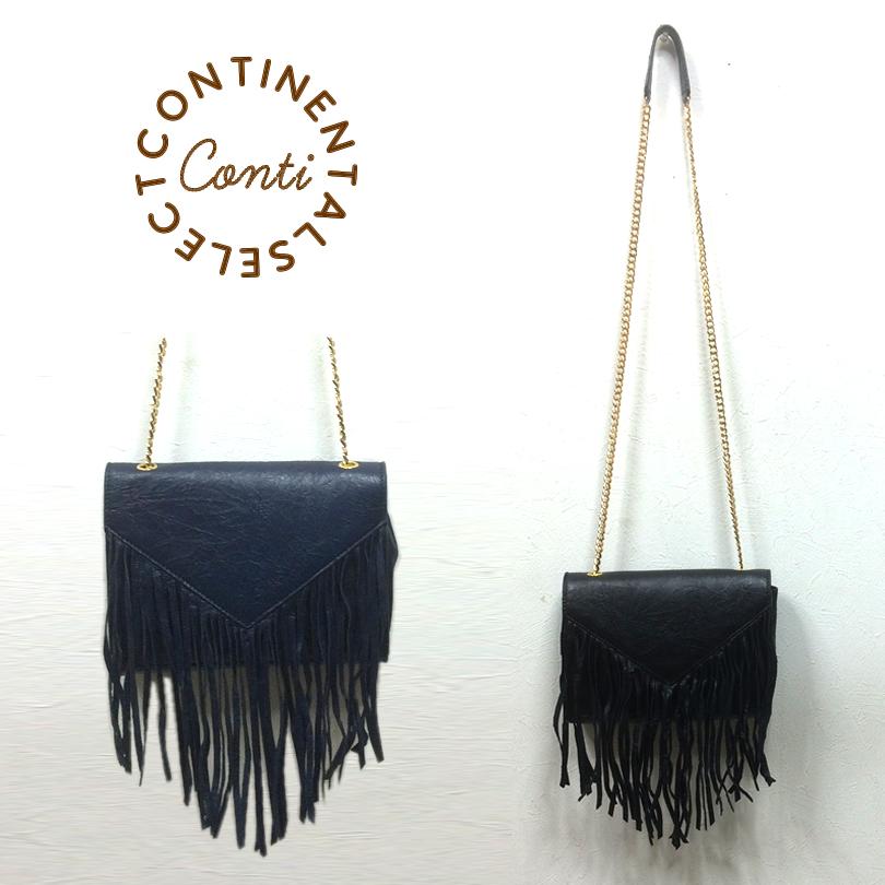 チェーンショルダーフリンジbagバッグ ネイビー ブラック レディース バッグ bag BAG ボックス型 レトロ マイクロバッグ フリンジバッグ 黒 紺 再販