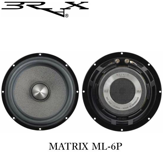 BRAX ブラックスMATRIX ML-6P16cmミッドバス(フェイズプラグモデル)正規輸入品
