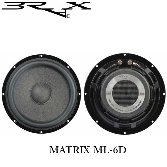 BRAX ブラックスMATRIX ML-6D16cmミッドバス(センターキャップモデル)正規輸入製品
