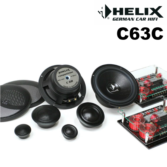 HELIX C63C16cm 3WAYセパレートスピーカーセットCompetitionシリーズ