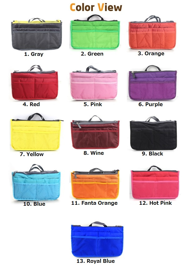 Inner bag (5 left was Buri storage) total 13 colors