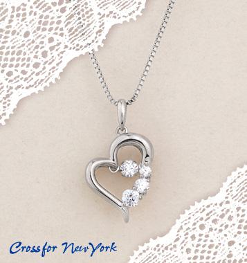 【送料無料】D-3stone Heart(NYP-585)ダンシングストーンレディースアクセサリー☆プレゼントに最適☆