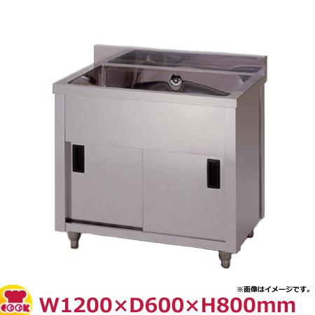 東製作所 一槽キャビネットシンク AP1-1200H W1200×D600×H800(送料無料、代引不可)