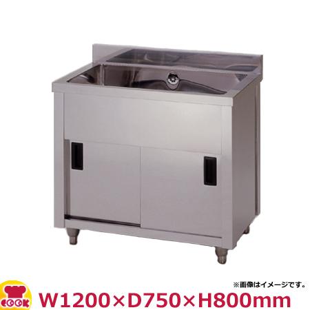 東製作所 一槽キャビネットシンク AP1-1200Y W1200×D750×H800(送料無料、代引不可)
