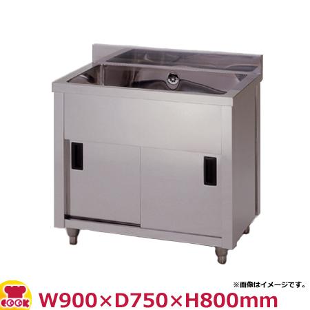 東製作所 一槽キャビネットシンク AP1-900Y W900×D750×H800(送料無料、代引不可)