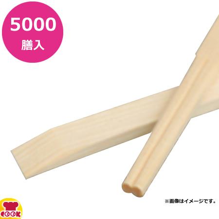 ビーワイピー 割り箸 エゾ松 天削 21cm 5000膳(100膳×50束)(送料無料 代引不可)