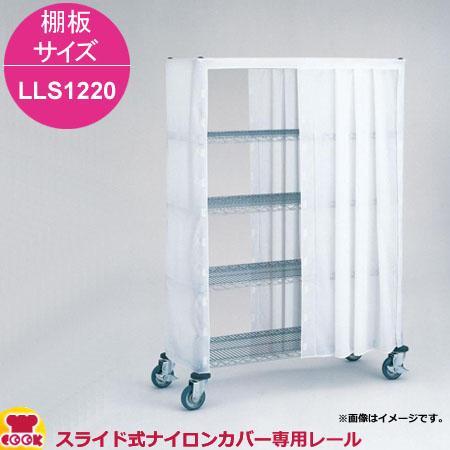 清潔で安全な収納・運搬のために エレクター スライド式ナイロンカバー用レール 棚板サイズ LLS1220用(送料無料、代引不可)