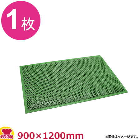 3M セーフティーグマット 緑 (900×1200mm)(送料無料 代引不可)