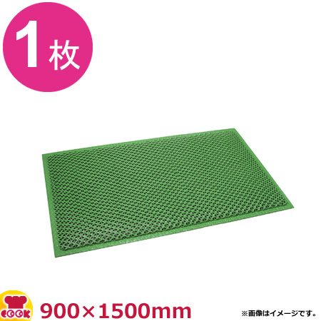 3M セーフティーグマット 緑 (900×1500mm)(送料無料 代引不可)
