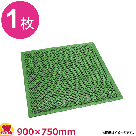 3M セーフティーグマット 緑 (900×750mm)(送料無料 代引不可)