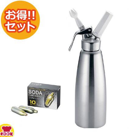 エスプーマ スパークリング Lサイズ ソーダカートリッジ10本セット CO2エスプーマ(送料無料 代引OK)