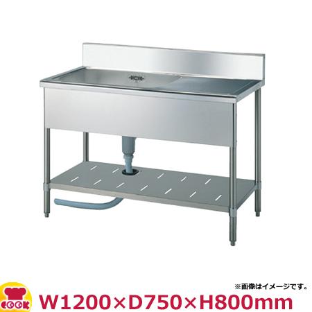 スギコ(SUGICO) 一槽水切り付シンク 750シリーズ SS-1SL-127・SS-1SR-127 W1200×D750×H800(送料無料、代引不可)
