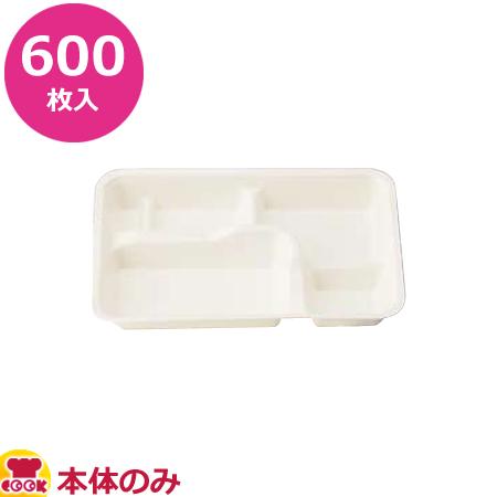 アヅミ産業 紙製弁当容器 本体 P-2 白 600枚入(送料無料 代引不可)