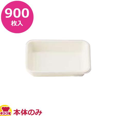 アヅミ産業 紙製弁当容器 本体 P-3 白 900枚入(送料無料 代引不可)