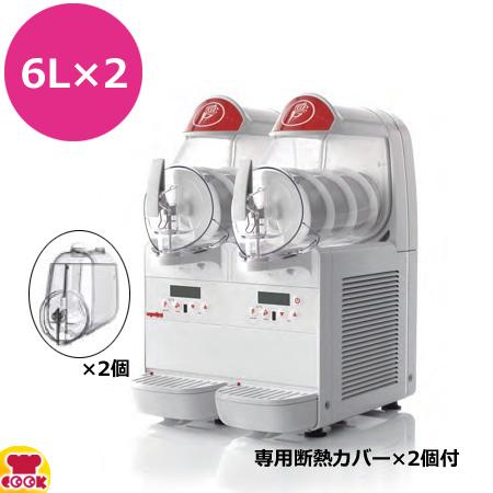 タイジ フローズンマシン miniGEL Plus2 (6L×2連) 専用断熱カバー2個付(送料無料、代引不可)
