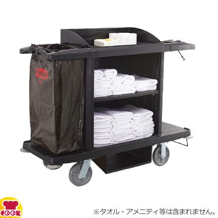 トラスト ルームメイキングカート5021 ブラック(送料無料、代引不可)