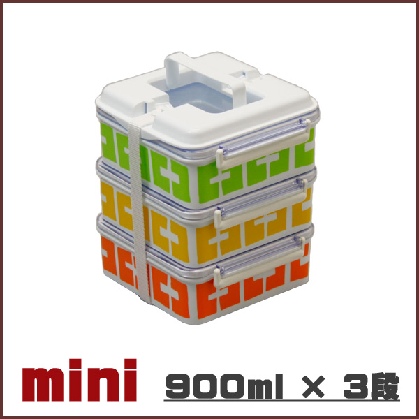 런치 박스 3 段松 카도 キャンディーナ 미니 900ml × 3 단 도시락 도시락 빅 mini 런치 박스 LUNCH BOX 대용량이 무거운 찬 합이 찬 합 뚜껑 소풍 도시락 분할 단순 피크닉 야외 운동 회, 소풍 용 일본 업체