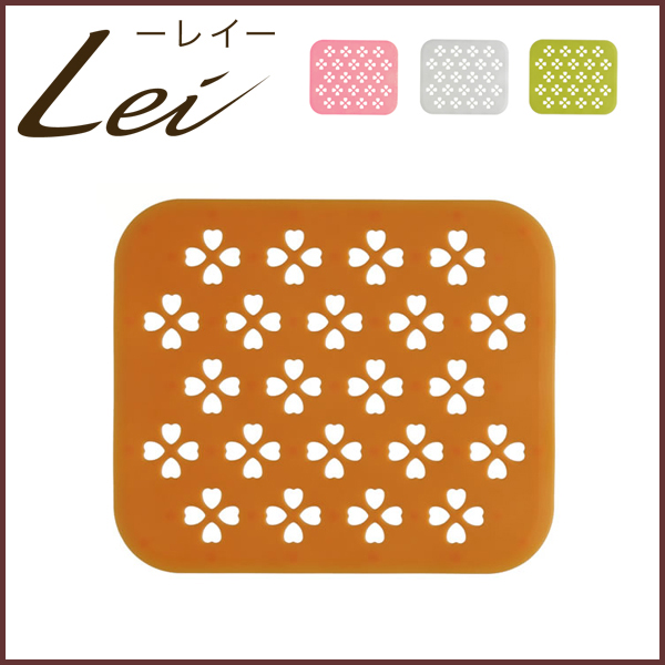 Clover Orange Silicone Sink Mat ◇ Around Richelle / Matt / Draining Mat /  White /