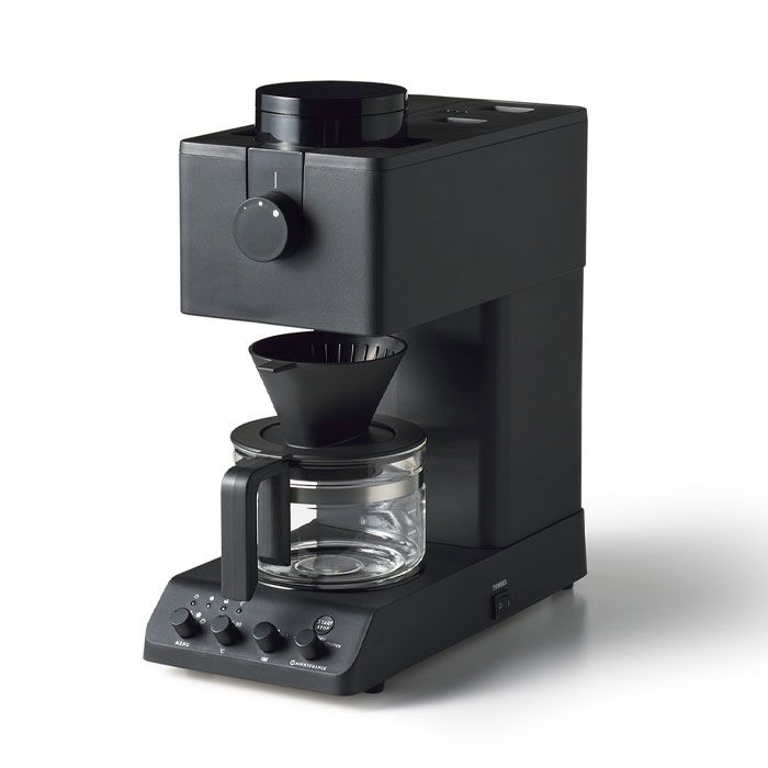 ツインバード 全自動コーヒーメーカー 3カップ CM-D457B【コーヒーメーカー ミル付き 全自動/TWINBIRD/キッチン家電/送料無料/あす楽】