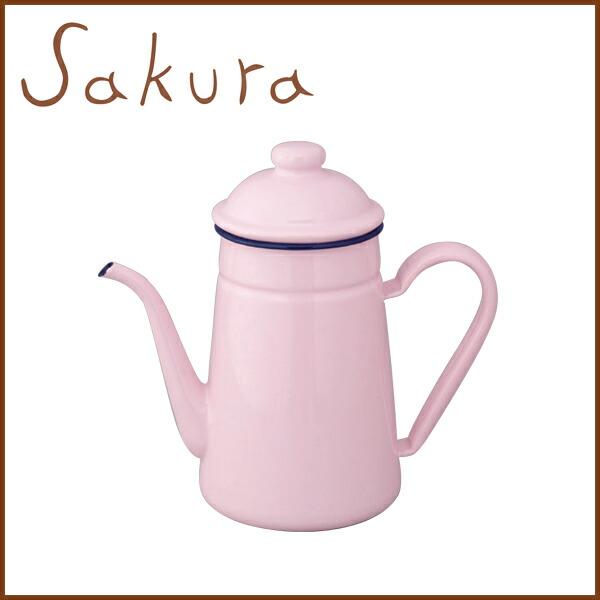 Enamel coffee lip pot 11 cm (1. 0 L) Pastel pink kitchen toy pink pink gadgets enameled porcelain enameled tea Kettle Kettle coffer Kettle drip Kettle enamel pot 1 l