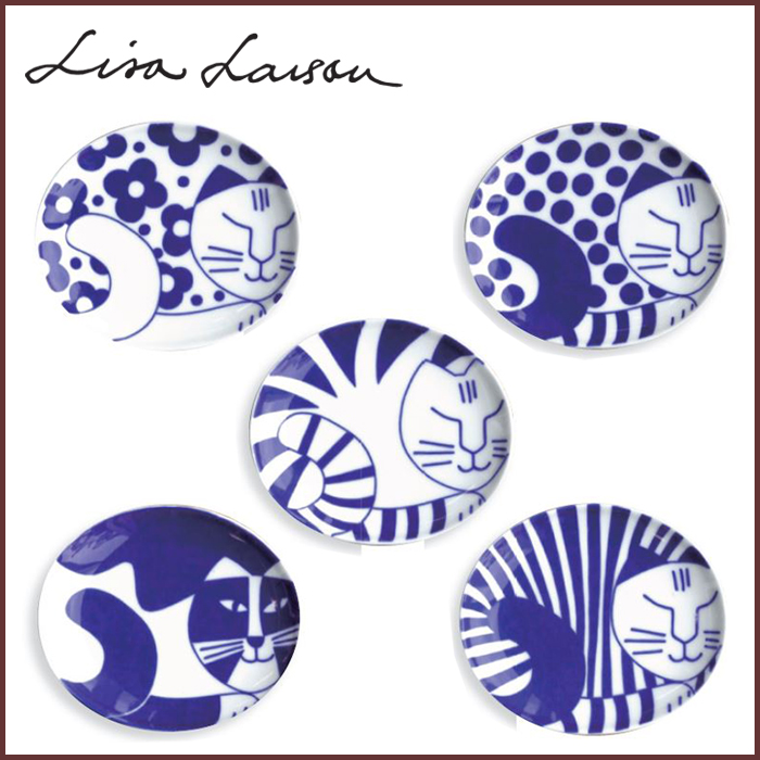 Lisa LISA LARSON Larson are the beans dish Arita / Japan series / blister dish / dishes / saucer / plate / dish / Lisa-Larson / animal / cat / cat / cat / Nordic / gadgets / made in Japan /