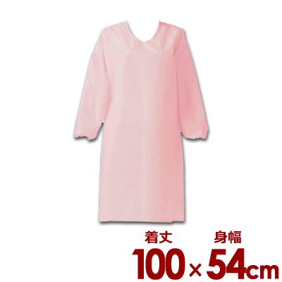 高級防汚素材使用 家庭用洗濯機対応エプロン 0466002 センシア 蔵 エプロン 袖付 E1201-4H 洗濯可 割烹着 ブランド品 ピンク 汚れにくい 004660002 ひも留