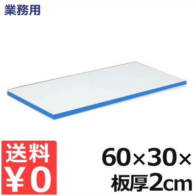 業務用 軽量抗菌スーパー耐熱まな板 60×30×厚さ2cm 20SKL 青/熱風消毒対応まな板 接着剤フリーまな板 衛生的な業務用まな板