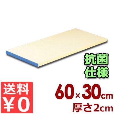 抗菌 ピュアマナ板 カラー縁付き PK3A 60×30cm×厚さ20mm ブルー/まな板 カッティングボード ポリエチレン 清潔 衛生