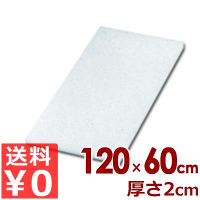 リケン 業務用ポリエチレンまな板 R-2060 1200×600×20mm/カッティングボード シンプル 《メーカー取寄/返品不可》