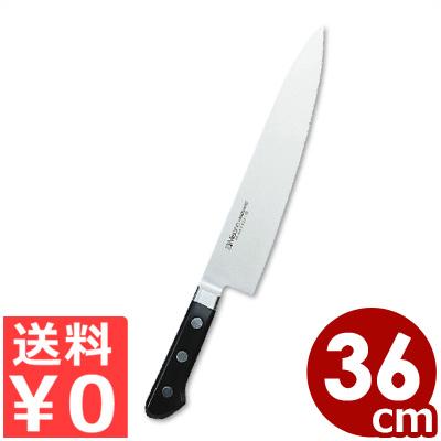 ミソノ ツバ付き牛刀 360mm No.517 モリブデン鋼 国産洋包丁・関のキッチンナイフ/シェフナイフ 肉 切れ味 耐久性 《メーカー取寄/返品不可》