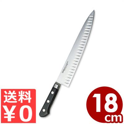 ミソノ 牛刀サーモン 180mm No.561 モリブデン鋼 国産洋包丁・関のキッチンナイフ/シェフナイフ 肉 魚 刺身 くっつきにくい 切れ味 耐久性 《メーカー取寄/返品不可》