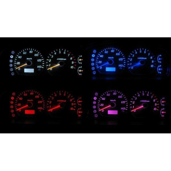 人気ショップが最安値挑戦 4色から選択可能です エブリイ エブリイワゴン DA62V DA62W LEDメーター照明セット デポー タコ有りメーター用