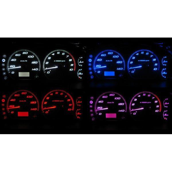 4色から選択可能です 着後レビューで 送料無料 セール特価品 ワゴンR MC12S MC22S LEDメーター照明セット タコ有り用 I型~IV型