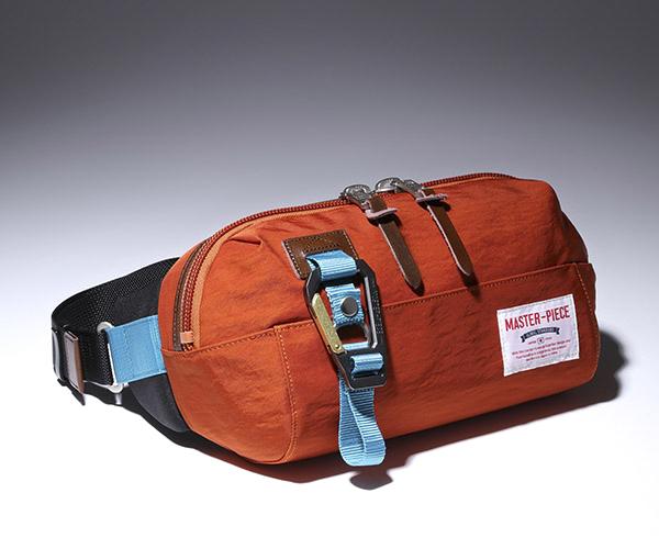 【選べるノベルティ付】 master-piece マスターピース リンク ウエストバッグ (カラー:オレンジ) 02346 | マスターピース ボディバッグ ウエストバッグ ショルダーバッグ 日本製