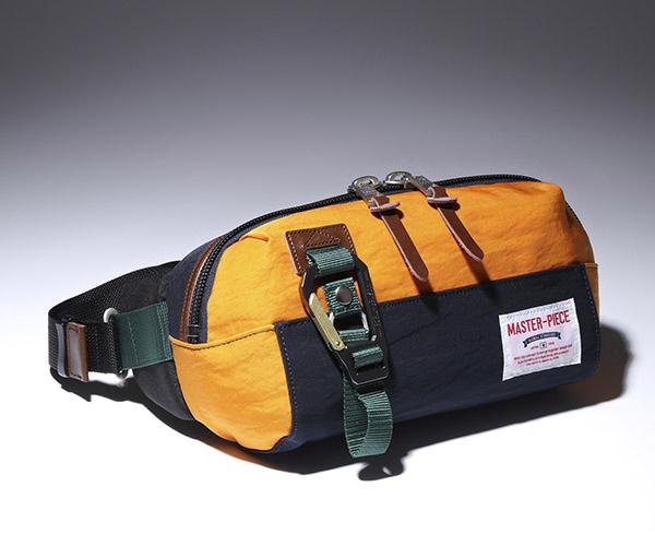 【選べるノベルティ付】 master-piece マスターピース リンク ウエストバッグ (カラー:ネイビーB) 02346 | マスターピース ボディバッグ ウエストバッグ ショルダーバッグ 日本製