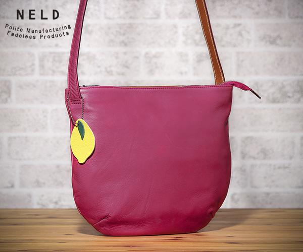 【選べるノベルティ付】 NELD ネルド ホホ ショルダーバッグL(カラー:ピンク)FW603