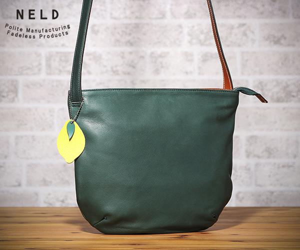【売れ筋】 【選べるノベルティ付】 NELD ネルド ホホ ショルダーバッグL(カラー:グリーン)FW603, サカチョウ 2c8bfd4d