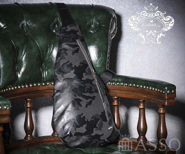 【選べるノベルティ付】 Orobianco オロビアンコ Light Camouflage CUORE ワンショルダーバッグ(カラー:ブラック)92217