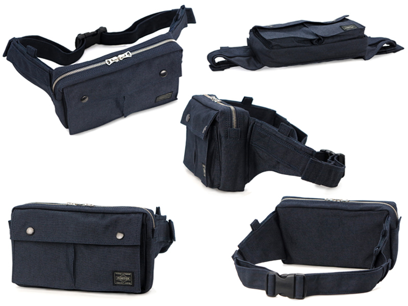 70c69ab80f coolcat  Yoshida Kaban Porter PORTER Smokey waist bag L color  black ...